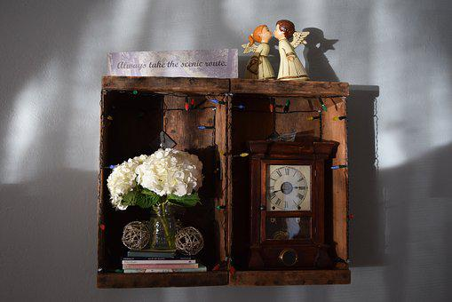 Scenic Route, Shadowbox, Quote, Angels, Clock