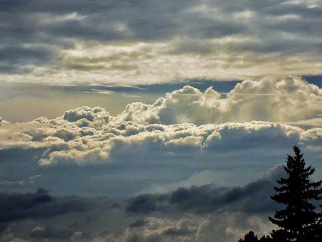 Landscape, Clouds, Sky, Nature, Twilight, Mood, Fog
