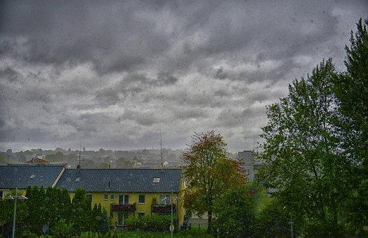 Rain, Thunderstorm, Forward, Nature, Sky, Cloud