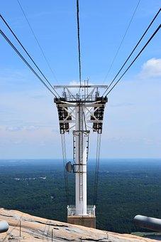 Cable Car Lift, Stone Mountain, Georgia, Landscape