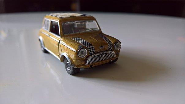 Mini, Austin, Morris, Toy, Child, Children, Car, Old