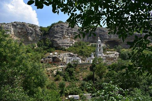 Assumption, Monastery, Canyon, Orthodox, Trees, Sky