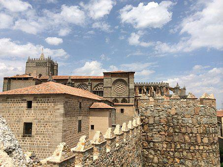 Spain, Stone, Medieval, Avila, Tourism, Wall, Old