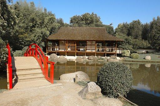 Garden, Japan, Zen, Quiet, Japanese, Oriental, Bridge