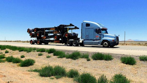 Truck, American, Transport, Vehicle, Travel, Road