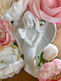 Angel, Hope, Message, The Heavenly Messenger, Flowers