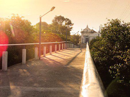 Church, Bridge, Salinas Margarida, Bahia, Brazil, City