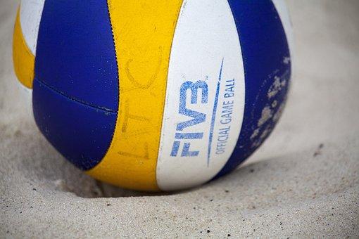 Volleyball, Beach, Ball, Sand, Sport, Sports, Play