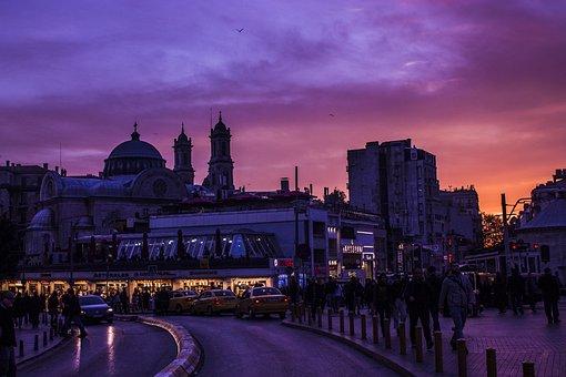 Taksim, Istiklal Street, Beyoğlu, Istanbul, Church