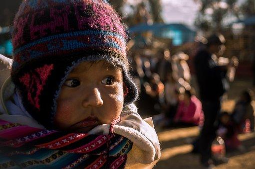 Peru, Child Peruvian, Andes, Color, Lights, Festival