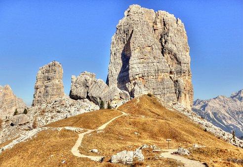 Cinque Torri, Dolomites, Mountains