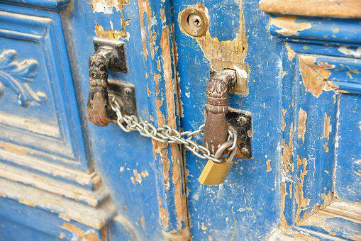 Door Lock, Building, Old, Door Handle, Input