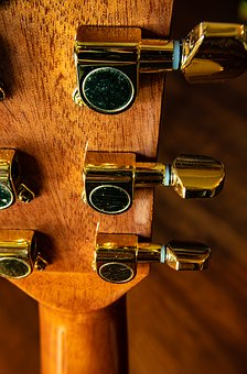 Guitar, Tuning Pegs, Instrument, Back-side, Close-up