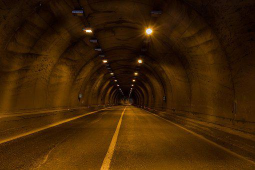 Yenice Tunnel, Tunnel, Light, Road, Highway, Dark, Tube