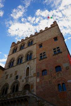 Palazzo, Prato, Italy, Architecture, Construction, Sky