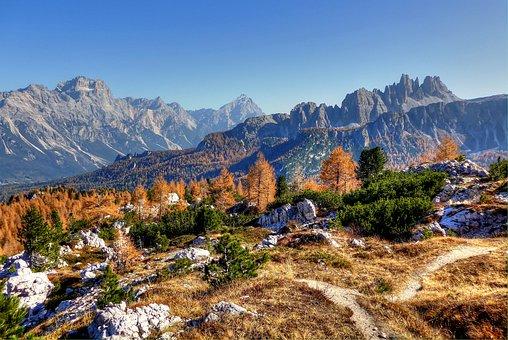Sorapis, Croda Da Lago, Dolomites, Italy, Summer