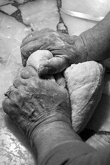 Hands, Mass, Flour, Kitchen, Knead, Bread, Hand, Work