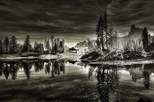 Dolomites, Lago Federa, Landscape, Alpine, Nature, Lake