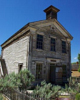 Schoolhouse And Masonic Lodge, Montana, Bannack
