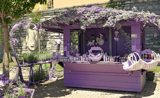 Lavender, Business, Music, Hut, Deco, Scene, Decoration