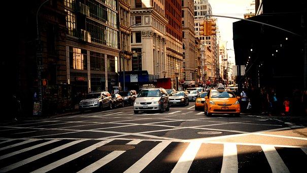 Road, Newyork, Building, Taxi, Nyc, Yellow, Crosswalk