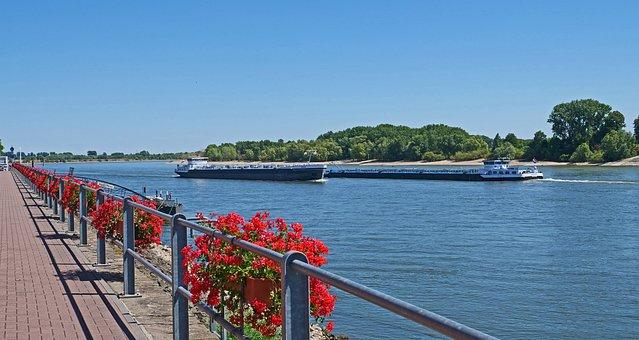Niederrhein, Rhine Promenade, City Of Rees, Railing