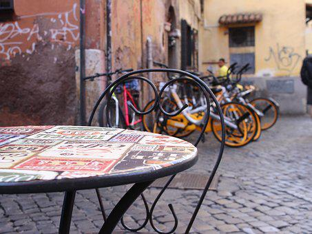 Table, Street, City, Travel, Chair, Outdoor, Old, Pub