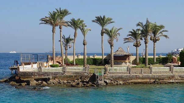 Hurghada, Sea, Palm Trees, Egypt, The Coast, Travel