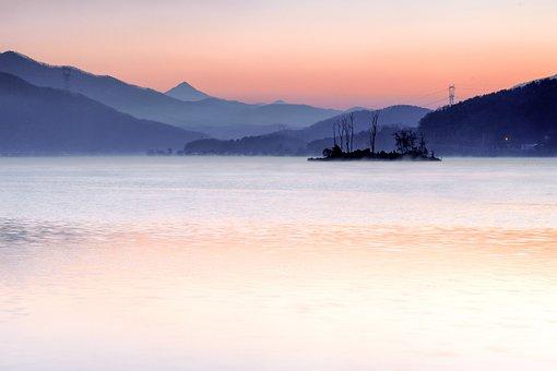 Two Water Head, People, Dawn, Sunrise, Misty Morning