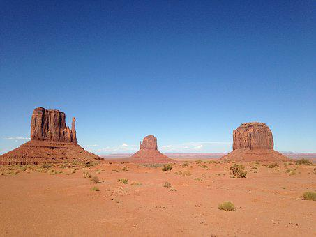 Usa, 3sisters, Arizona, Road, 66, Navajo, Landscape