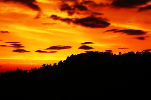Sunglow, Morning Glow, Sky, Mountain, Sunrise