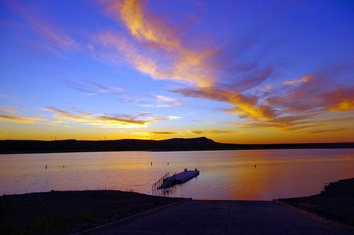 Brantley Lake Sunset, State Park, New Mexico, Dusk