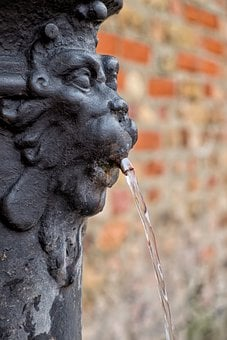 Fountain, Venice, Water, Lion, Lion Head, Italy, Statue