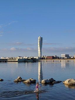 Summer, Malmö, Turning Torso, Building, Skåne, Sweden