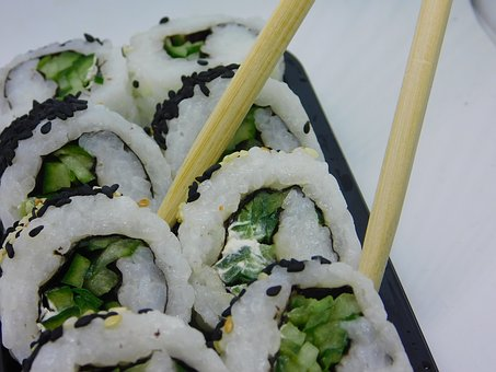 Sushi, Vegetarian, Vegetables, Rice, Food, Nutrition