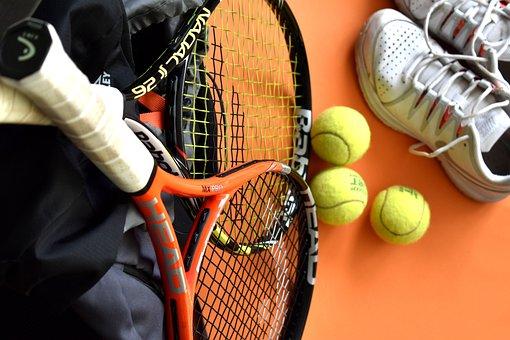 Tennis, Racket, Tennis Balls, Equipment, Exercise