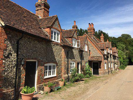 Uk, Buckinghamshire, Cottages, Hambleden, Village