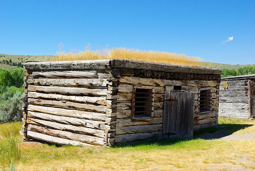 Bannack Montana Jail, Montana, Usa, Bannack, Ghost Town