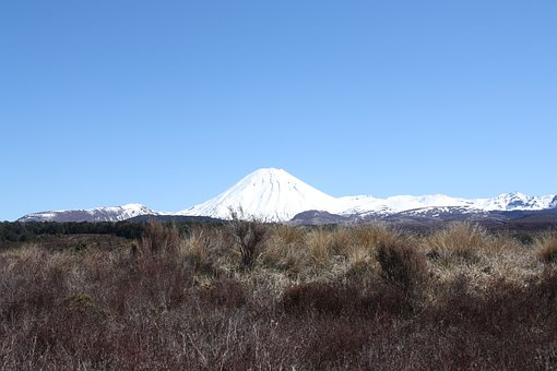 Volcano, White, Snow-new Zealand, Tongariro, Landscape
