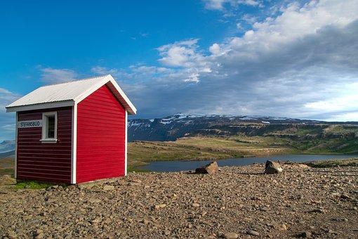 Hut, Cottage, Bergsee, Iceland, Nature, Landscape, Lake