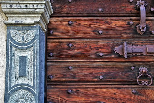 The Door, Entrance, Artfully, Old, Ornament, Closed
