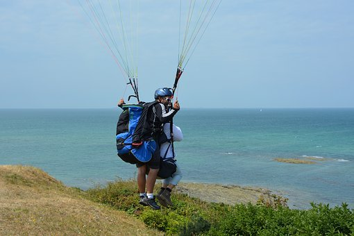 Paragliding, Paragliding Bis Place, Duo, Two Harnesses