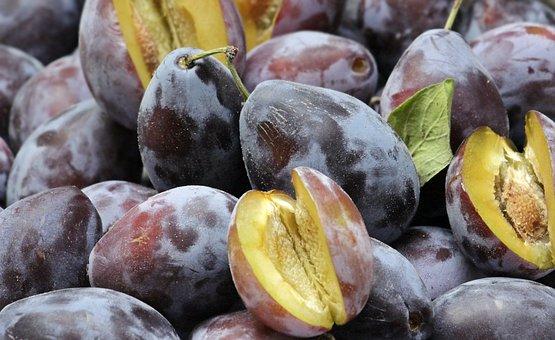Plums, Fruit, Fruits, Ripe, Violet, Food, Healthy