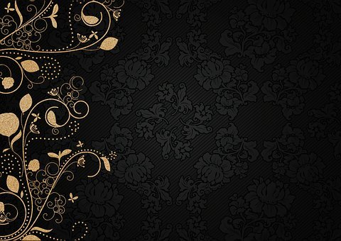 Decorated, Noble, Ornaments, Oriental, Gold, Purple