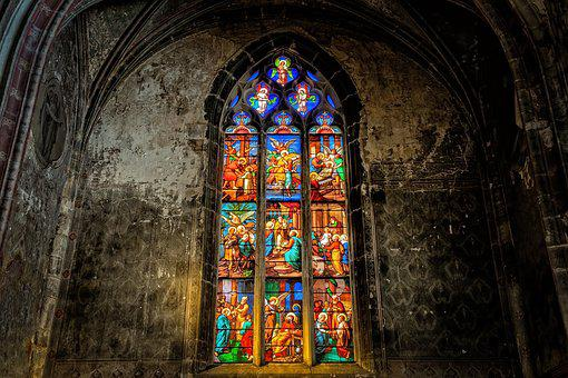 Church, Window, Colorful, Church Window, Glass, Light