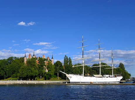 Castle, Sailboat, 3 Masts, Sea, Youth Hostel, Marine