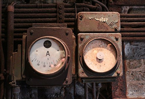 Measuring Instruments, Old, Rusted, Rusty, Metal