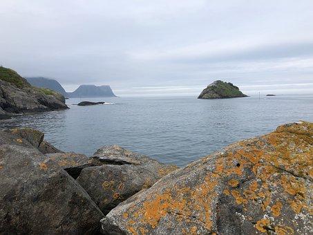 Water, Rock, Nature, Seashore, Sea, Landscape