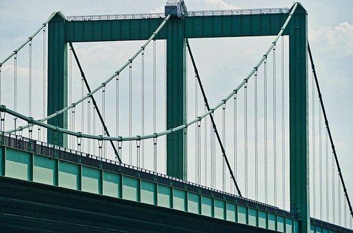 Bridge, Suspension Bridge, Architecture, Steel