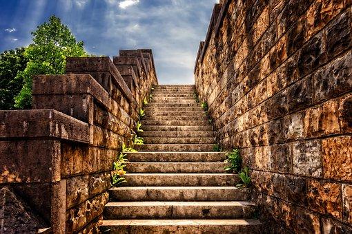 Stairs, Stone, Gradually, Stone Stairway, Staircase